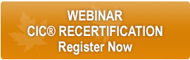 Webinar CIC Recertification Button