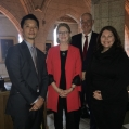Joe Kim, Stephen Palmer, Mandy Deeves with Kate Young MP