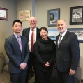 Joseph Kim, Stephen Palmer, Mandy Deeves, David Van Kesteren MP